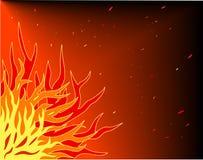 Flammen Stockfoto