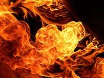 Flammen stockbild