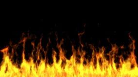 Flammen auf einem schwarzen Hintergrund lizenzfreies stockbild