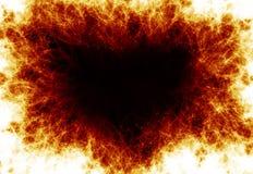 Flammen auf einem schwarzen Hintergrund Stockfoto