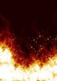 Flammen auf einem schwarzen Hintergrund Lizenzfreie Stockfotos