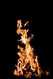 Flammen auf Schwarzem Stockbilder