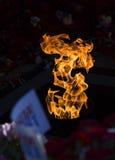 Flammen des Feuers Stockfotos