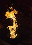 Flammen des Feuers Stockfoto