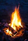 Flammen des Lagerfeuers Stockfotografie