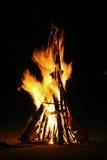 Flammen eines Lagerfeuers stockbild