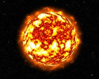 Flammen erweiternder Sun lizenzfreie abbildung