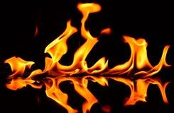 Flammen-Heizung stockfotos