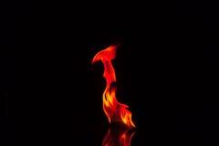 Flammen lokalisiert Stockfotografie