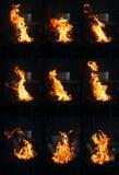 Flammen-Montage lizenzfreies stockfoto