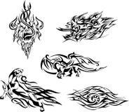 Flammen Sie tatoos Stockbild