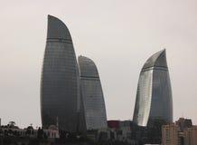 Flammen-Türme in Baku Stockfotografie