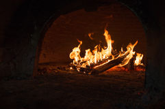 Flammen und Feuer Lizenzfreies Stockbild