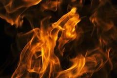 Flammen - unscharfer Hintergrund Stockfotografie