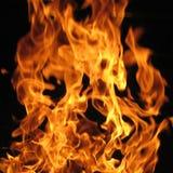 Flammen von einem Feuer Lizenzfreies Stockbild