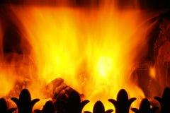 Flammende Hitze Stockfotos