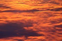 Flammender Himmel Stockfotografie