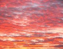 Flammender Himmel Lizenzfreie Stockbilder