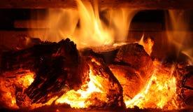 Flammendes Feuer Stockbild