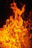 Flammendes Feuer Stockfotografie