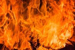Flammenfeuer-Flammenhintergrund und gemasert Lizenzfreies Stockfoto