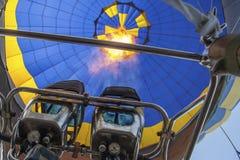 FlammenGasbrennerballon Stockbild