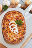 Flammenkuchen Royalty Free Stock Images