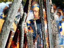 Flammenrahmen Lizenzfreie Stockfotografie