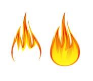 Flammensymbol oder Ikonenillustration 1 vektor abbildung