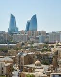 Flammenturm, Baku, Aserbaidschan Stockbilder