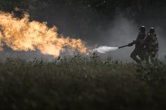 Flammenwerfer Stockfotos