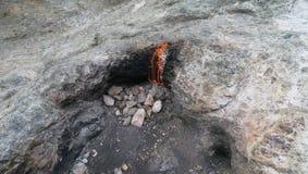 Flammes éternelles de Cirali-Olympos de la chimère, Yanartas en Turquie images libres de droits