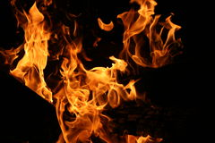 Flammes Image libre de droits