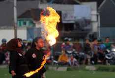 Flammes photographie stock