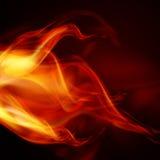 Flammes abstraites du feu Images stock