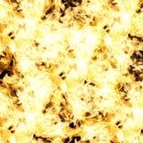 Flammes abstraites du feu sur le fond noir Photo libre de droits