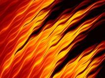 Flammes abstraites du feu sur le fond noir Texture ardente lumineuse illustration stock