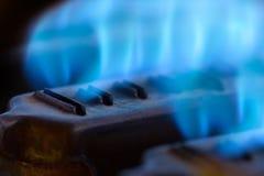 Flammes bleues photographie stock libre de droits