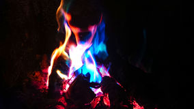 Flammes bleues Images stock