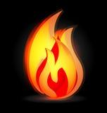 Flammes brûlant dans le vecteur vif de logo de couleurs illustration libre de droits
