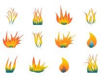 Flammes chaudes Photo libre de droits