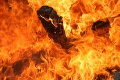 Flammes chaudes Images stock