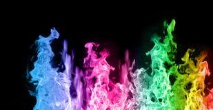 Flammes colorées Image libre de droits