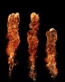 Flammes d'incendie images libres de droits