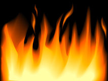 Flammes d'incendie illustration stock