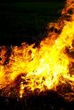 Flammes d'incendie photo libre de droits