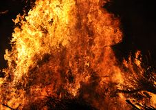 Flammes d'incendie brûlant photo stock