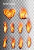 Flammes d'incendie réglées illustration de vecteur