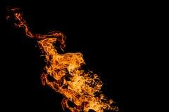 Flammes d'incendie sur le fond noir le feu sur le fond noir d'isolement Mod?les du feu images stock