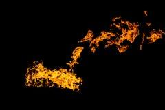 Flammes d'incendie sur le fond noir le feu sur le fond noir d'isolement Mod?les du feu image libre de droits